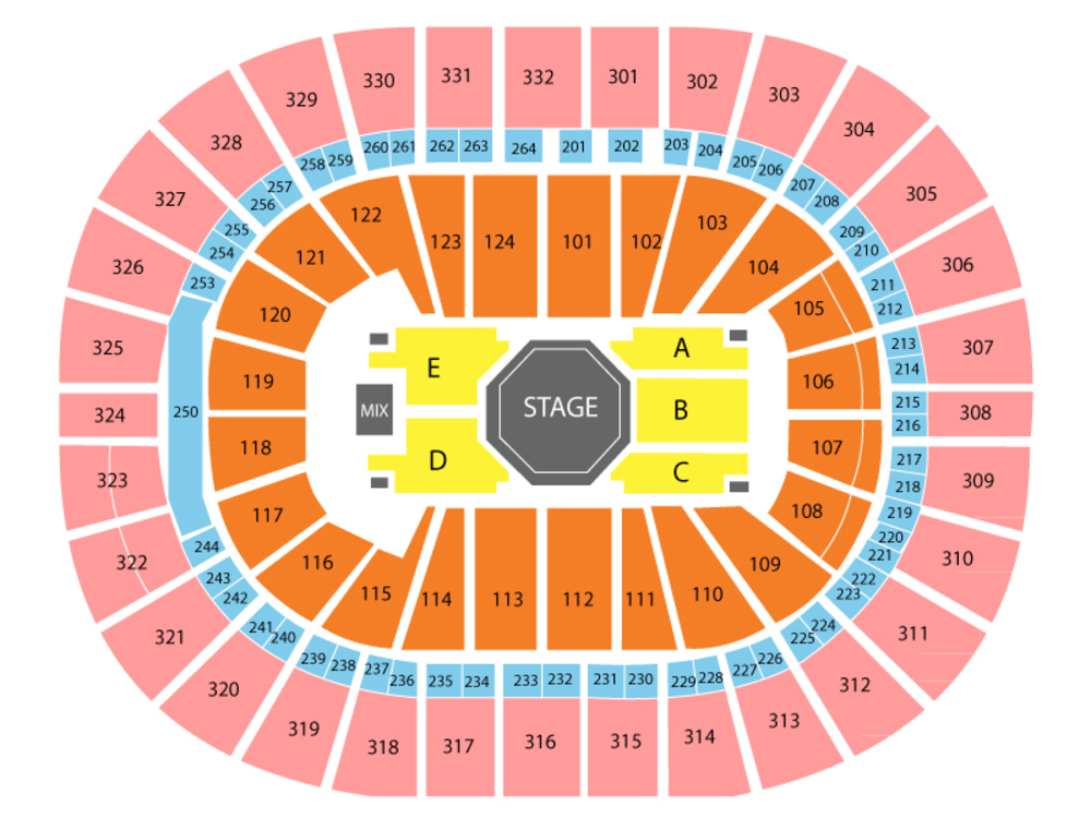 Dave Chappelle and Joe Rogan (Rescheduled from 4/25/20) Venue Map