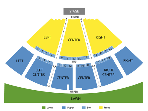 Gary Sinise and Lt. Dan Band Venue Map