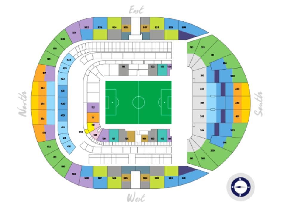 NFL International Series - Seattle Seahawks at Oakland Raiders Venue Map