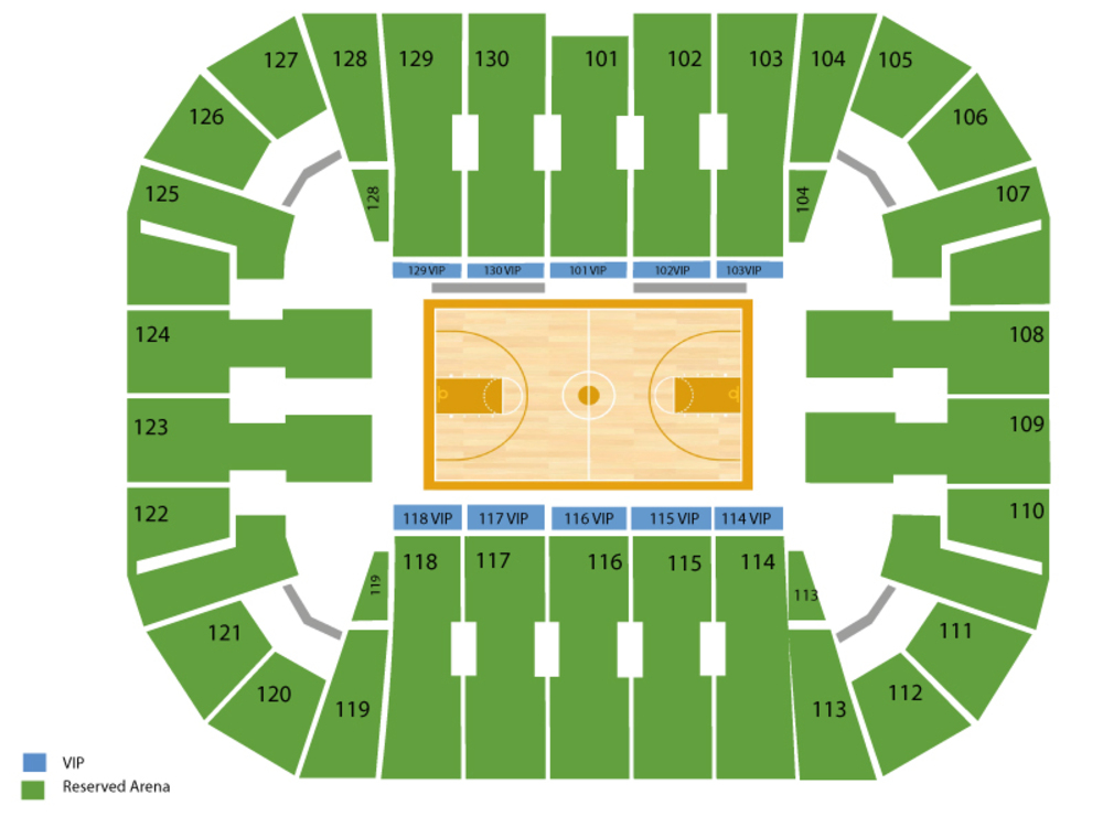 George Washington Colonials at George Mason Patriots Basketball Venue Map