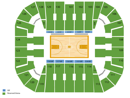 Rhode Island Rams at George Mason Patriots Basketball Venue Map