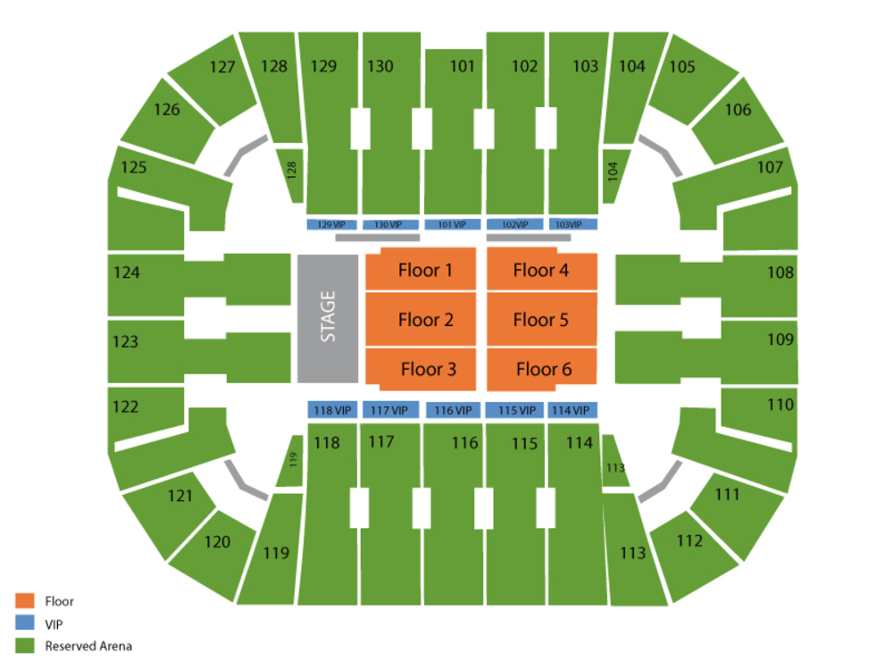 Harlem Globetrotters Venue Map