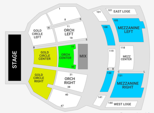 Clannad (Rescheduled from 9/04/2020. 09/10/2021) Venue Map
