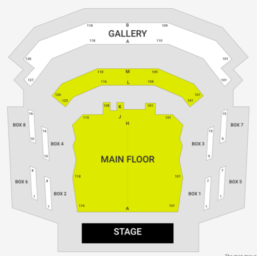 The Edwards Twins (Rescheduled from 4/2/20) Venue Map