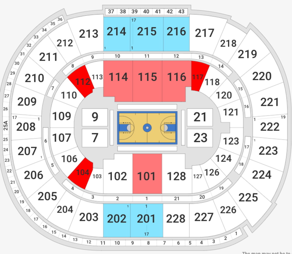 NCAA Men's Basketball San Jose - All Sessions Venue Map