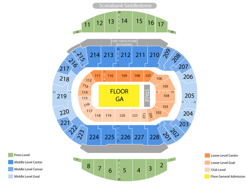 Scotiabank Saddledome Seating Chart