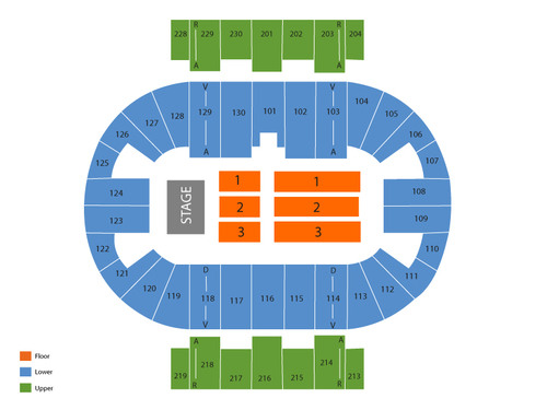 Pensacola Bay Center Seating Chart