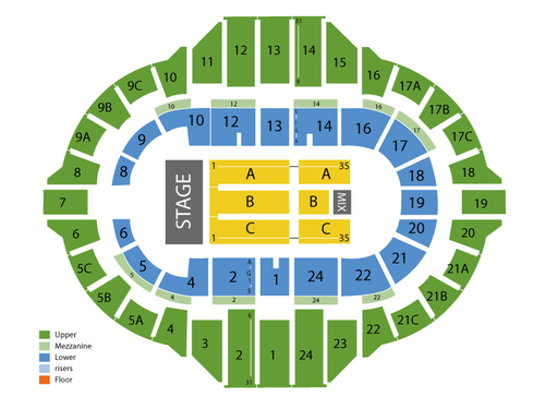 Peoria Civic Center Arena Seating Chart