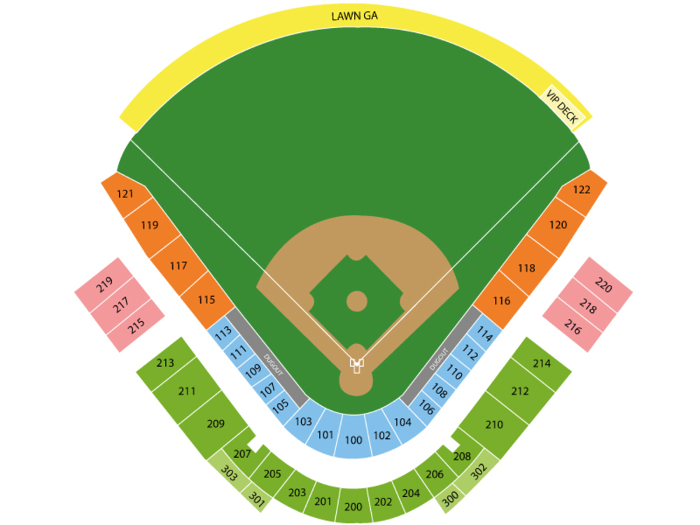 Spring Training: Chicago Cubs (Split Squad) at Seattle Mariners Venue Map