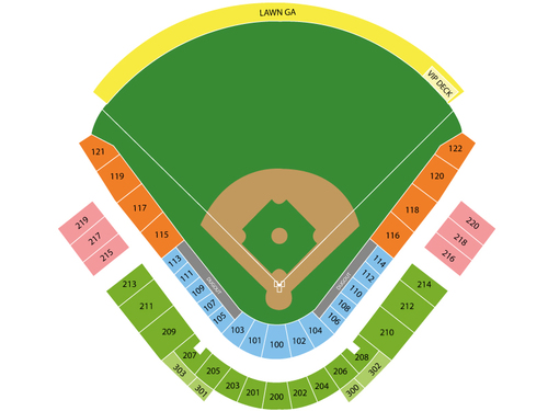 Spring Training: San Diego Padres at Seattle Mariners (Reduced Capacity Social Distancing) Venue Map