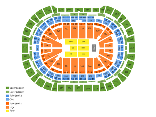 Shinedown and Godsmack Venue Map