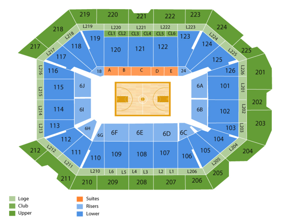 Petersen Events Center seating map and tickets
