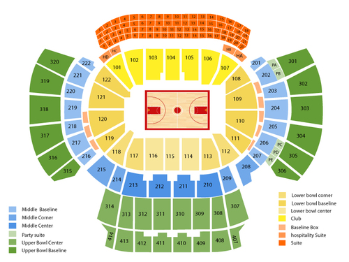 Miami Heat at Atlanta Hawks Venue Map