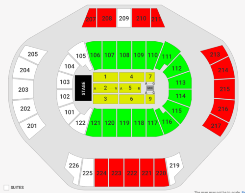Jingle Ball with Khalid and Jonas Brothers Venue Map