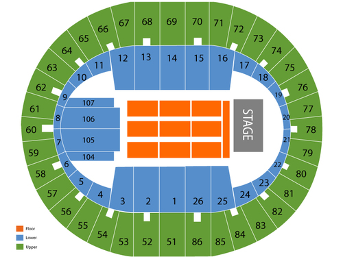 Veterans memorial coliseum portland seating chart events in