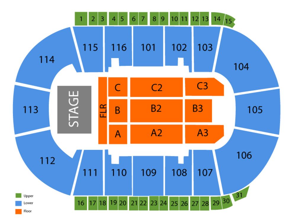 Prospera Place seating chart and tickets