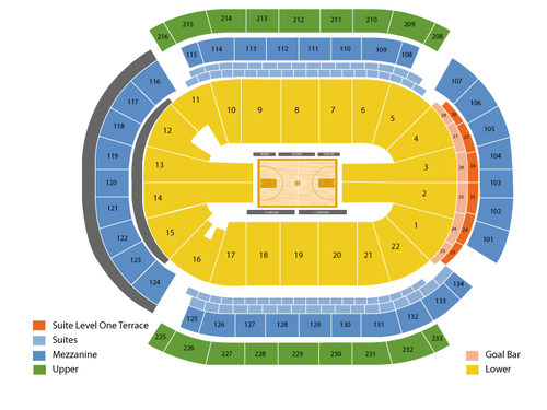 Los Angeles Sparks at New York Liberty Venue Map