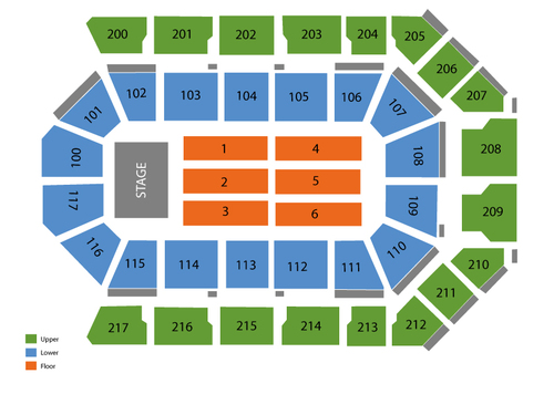 Rabobank Theater Seating Chart