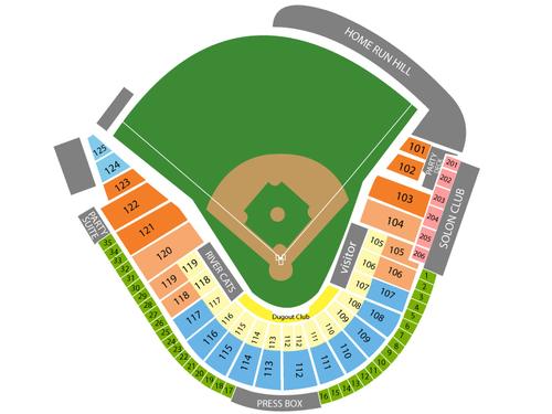 Raley Field Seating Chart