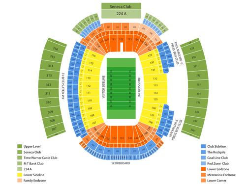Ralph Wilson Stadium Seating Chart