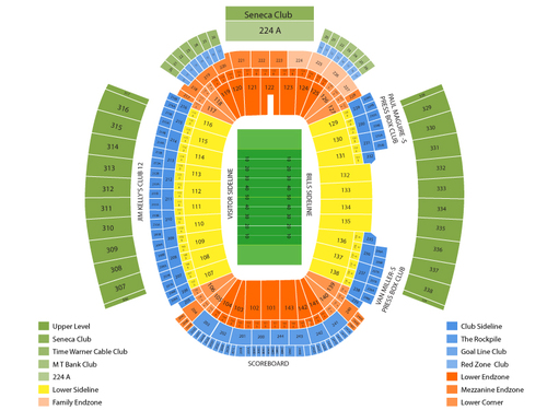 Ralph Wilson Stadium Seating Chart