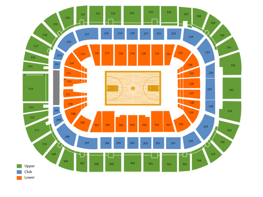 PNC Arena seating map and tickets
