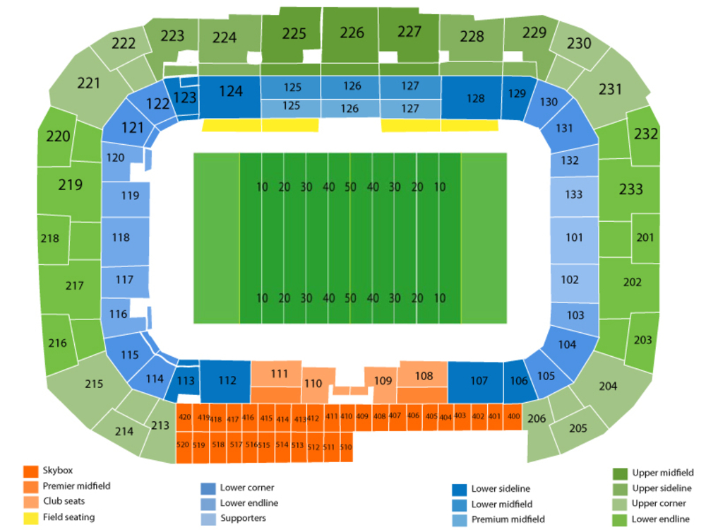 Sporting Kansas City at New York Red Bulls Venue Map