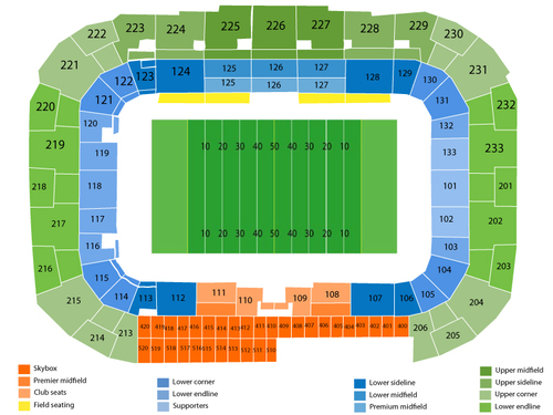 Houston Dynamo at New York Red Bulls Venue Map
