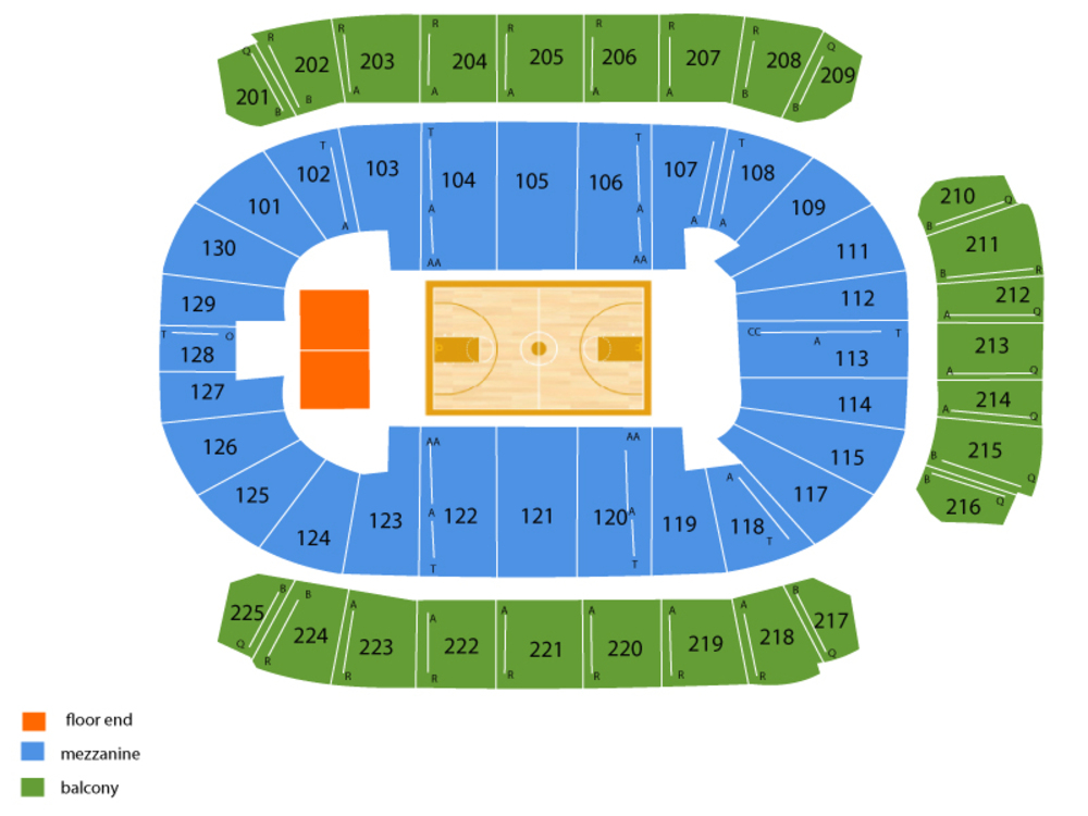 Mississippi State Bulldogs at Texas A&M Aggies Basketball Venue Map