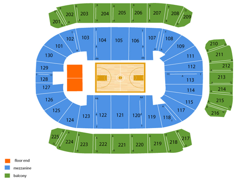 Reed Arena Seating Chart