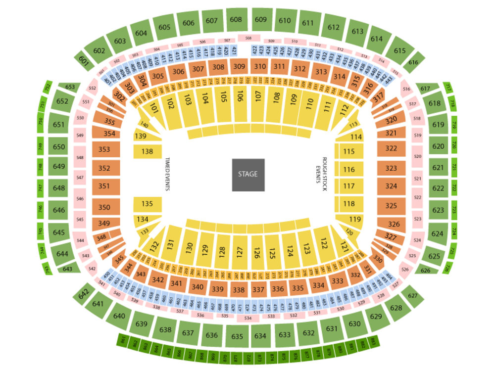 Houston Rodeo with Brad Paisley Venue Map