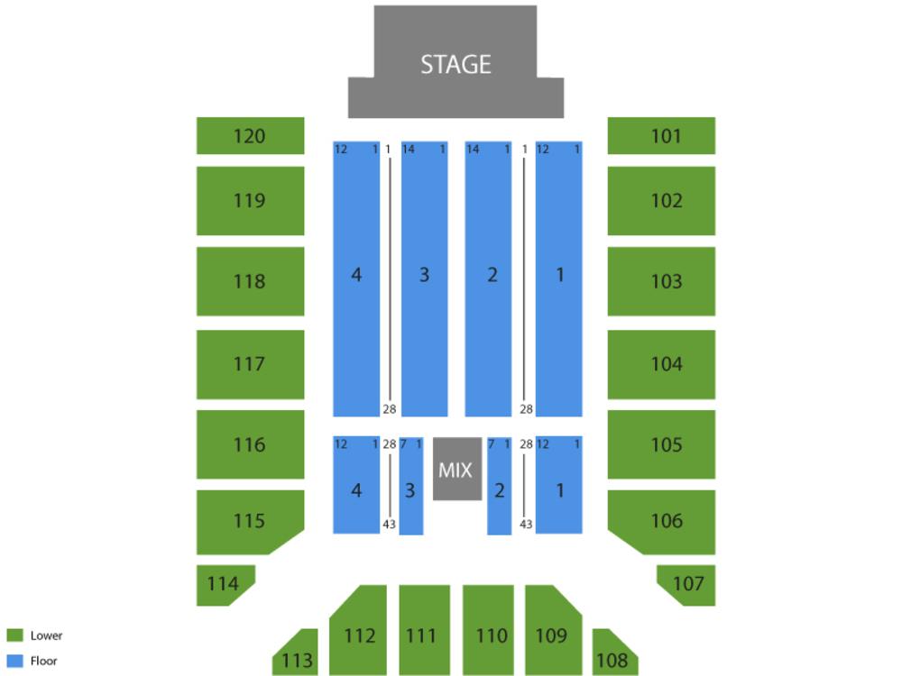 Tim McGraw Venue Map