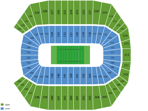 Rentschler Field seating chart and tickets