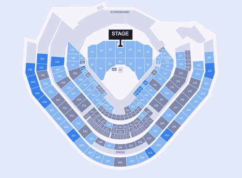 Motley Crue and Def Leppard (Rescheduled from 08/09/20 and 8/15/21) Venue Map