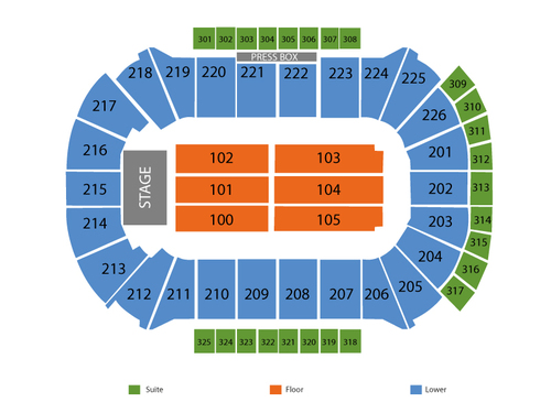 Resch Center Seating Chart