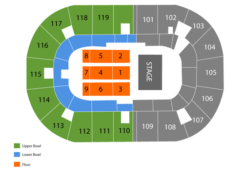 Ricoh Coliseum Seating Chart
