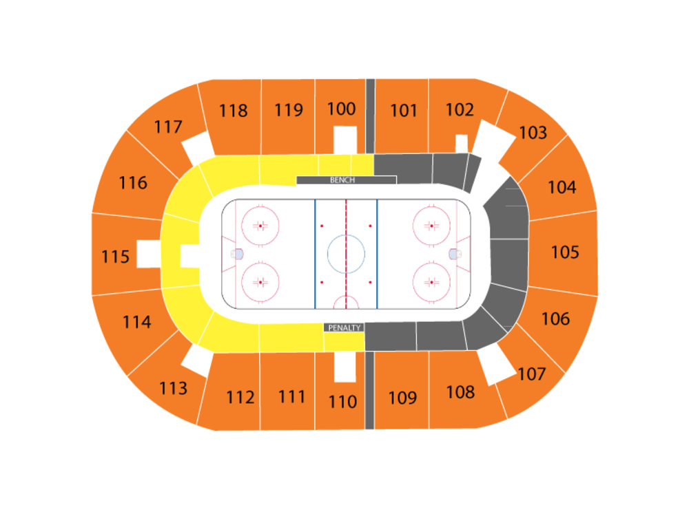 NHL Rookie Tournament - Montreal Canadiens at Ottawa Senators Venue Map