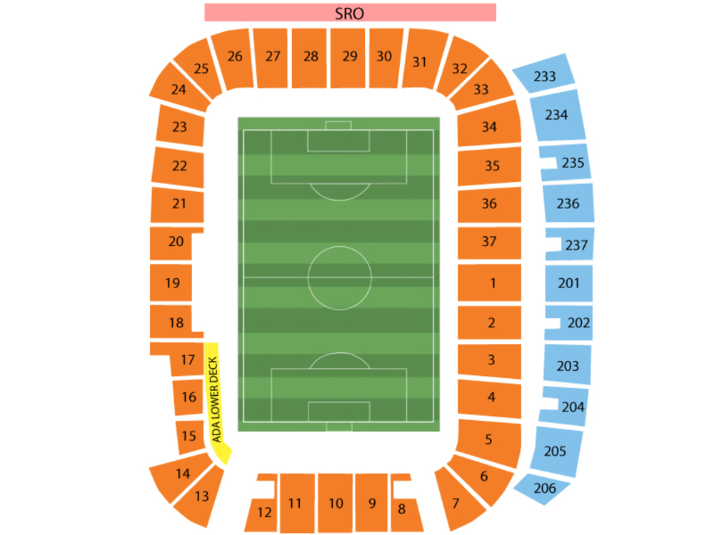 Minnesota United FC at Real Salt Lake Venue Map