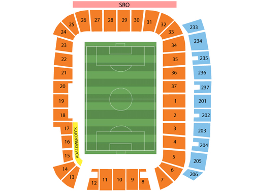 Los Angeles Galaxy at Real Salt Lake Venue Map