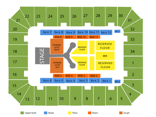 Berglund Center Seating Chart