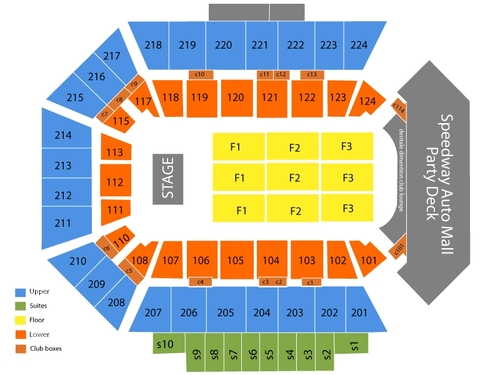 Rockford MetroCentre Seating Chart