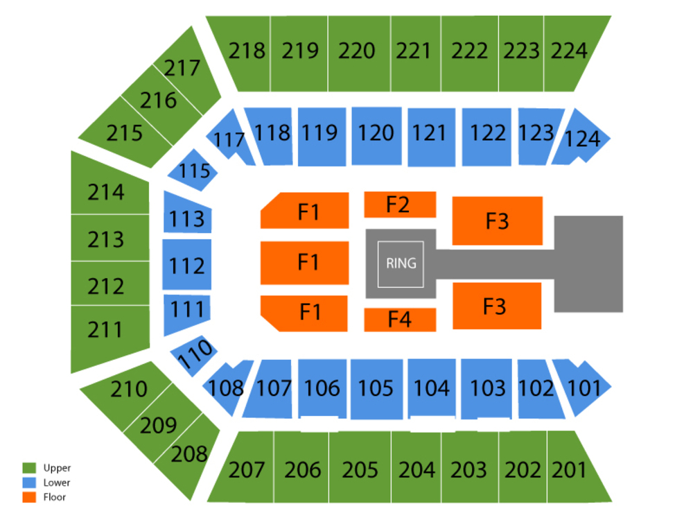 WWE Live (Rescheduled from 4/19) Venue Map