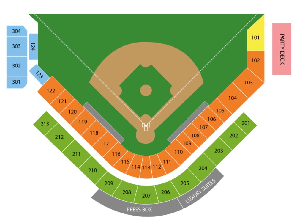 Spring Training: New York Mets at Miami Marlins (Split Squad) Venue Map