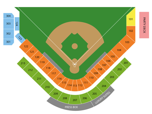 Roger Dean Stadium Seating Chart