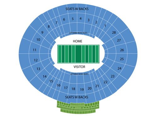 Rose Bowl (Washington vs Ohio State) Venue Map