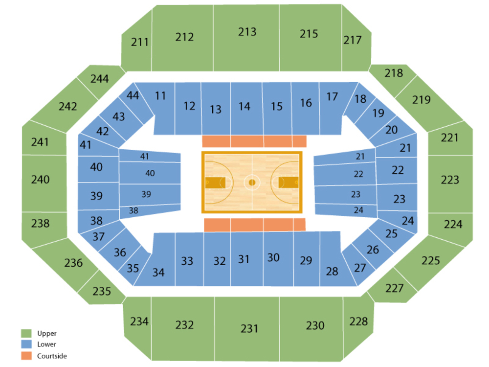 Transylvania Pioneers at Kentucky Wildcats Basketball Venue Map