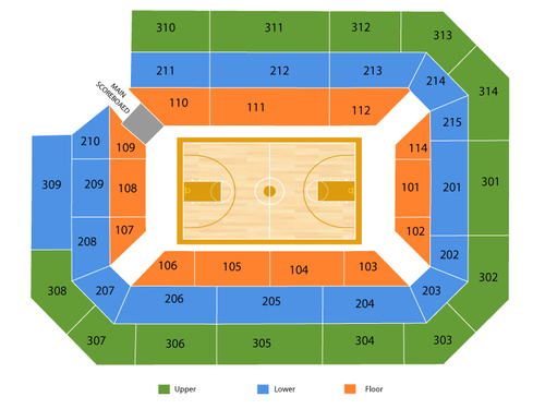 Ryan Center Seating Chart
