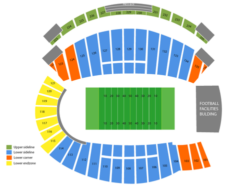 Minnesota Golden Gophers at Northwestern Wildcats Football Venue Map