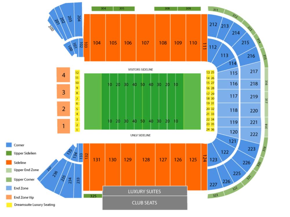 Las Vegas Bowl (Arizona State vs Fresno State) Venue Map