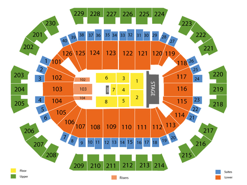 Justin Timberlake Venue Map